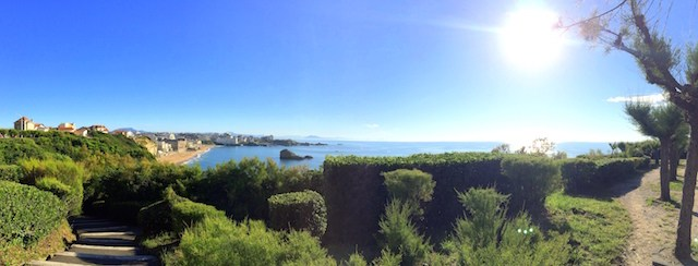 Panorama from the lighthouse in Biarritz