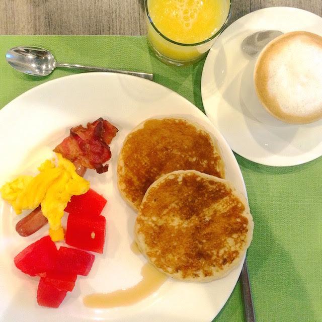 Pancakes based breakfast