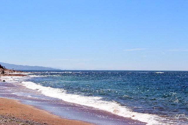the beach in Guethary, France