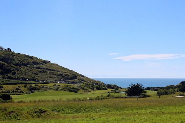 Golf course overlooking the ocean in Biarritz