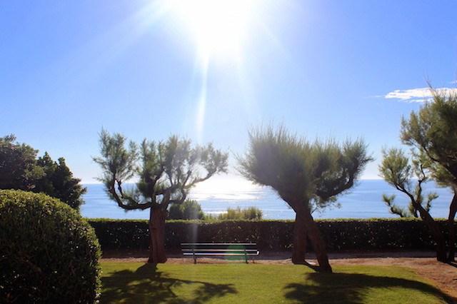 Garden under the lighthouse in Biarritz