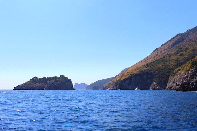 Boat tour in the Amalfi coast, Italy