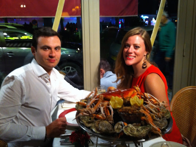 Seafood dinner in Trouville