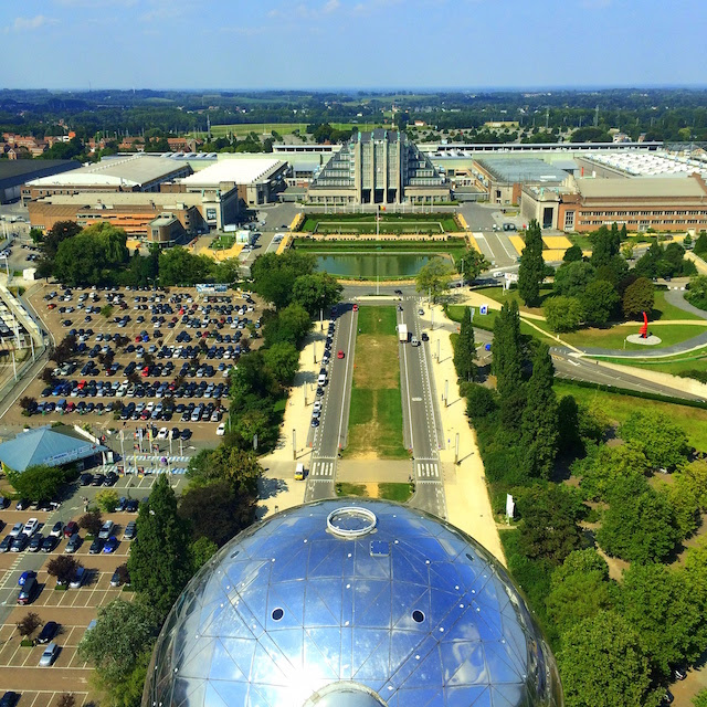 View over Bruxelles from the Atomium