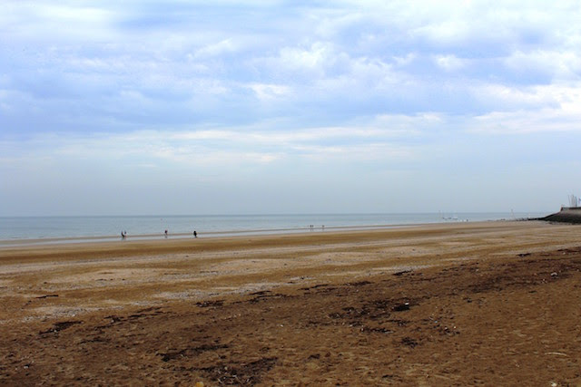 Trouville, the beach