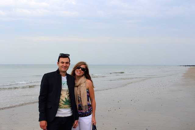 Walking on the beach in Trouville
