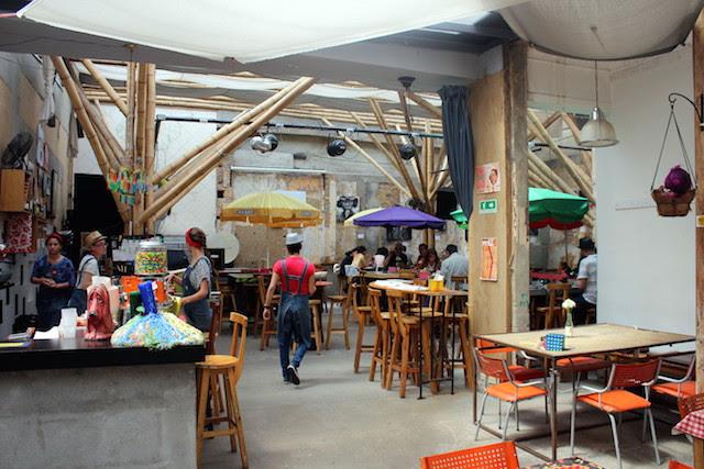 Restaurant in the historical centre in Bogota
