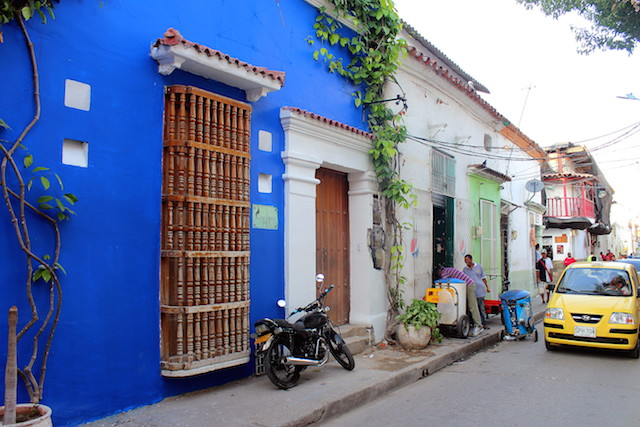 Colorful houses in Getsemani, Cartagena, Colombia