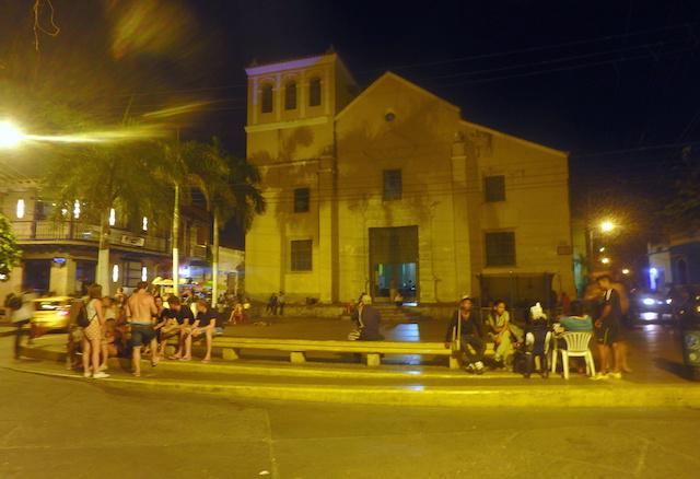Trinidad square in Cartagena, Colombia
