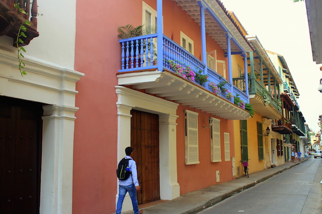 Colroful house in Cartagena old town