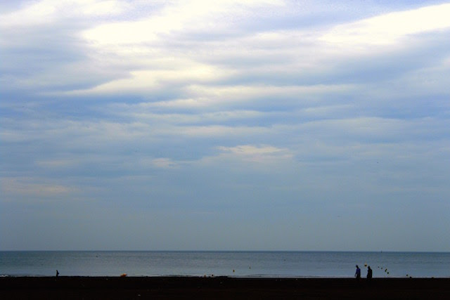 The beach in Deauville