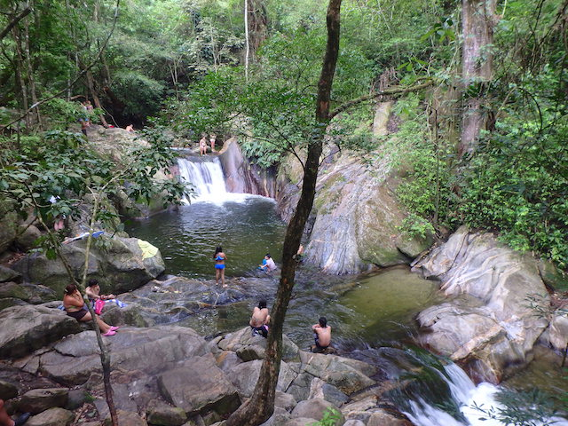 Pozo Azul waterfall in Minca, Colombia