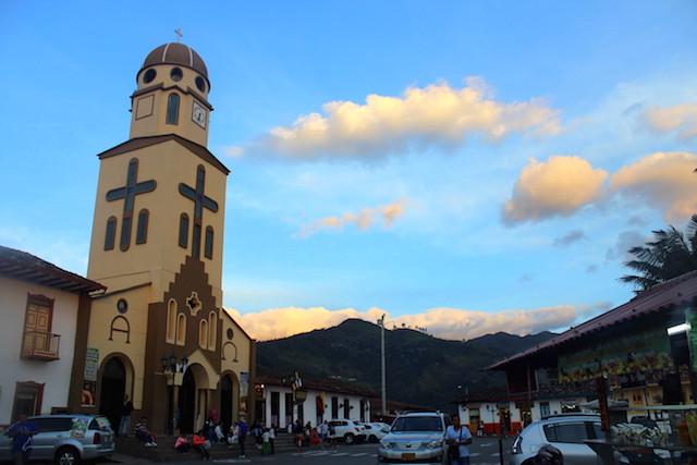 Salento main square, Colombia