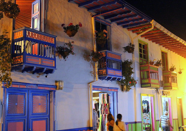 colorful shops in calle Real in Salento, Colombia