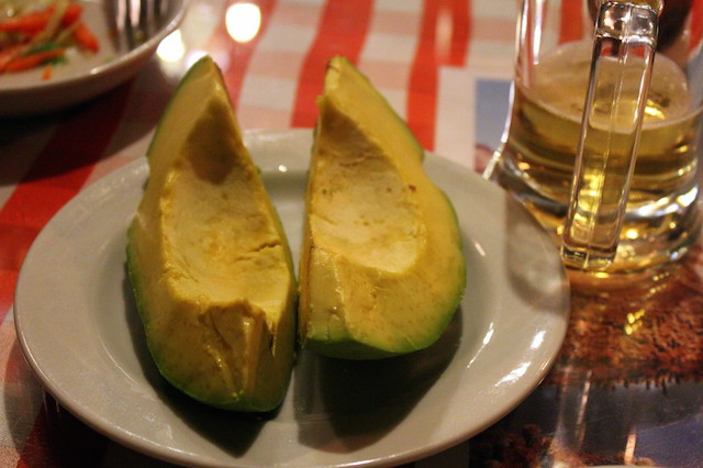 Giant avocado at Restaurante Donde Laurita in Salento, Colombia
