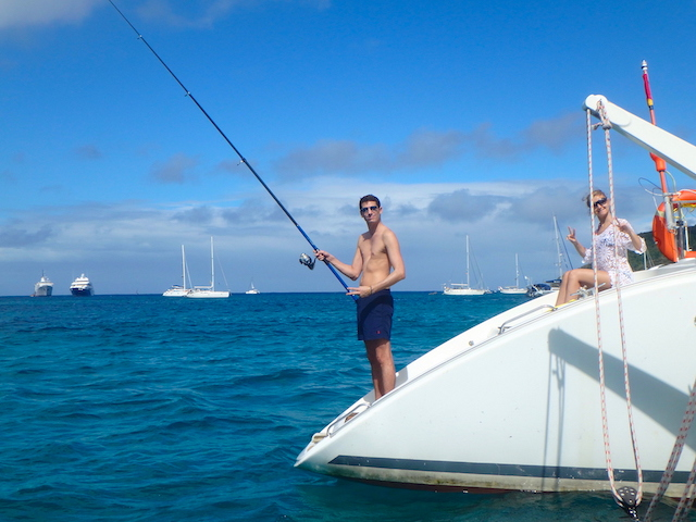 Fishing in Bequia, Grenadine islands