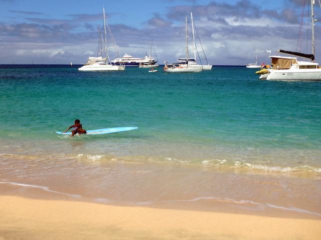 Children playing in Bequia, Grenadine islands