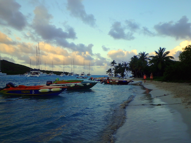 Sunset in Tobago Cays