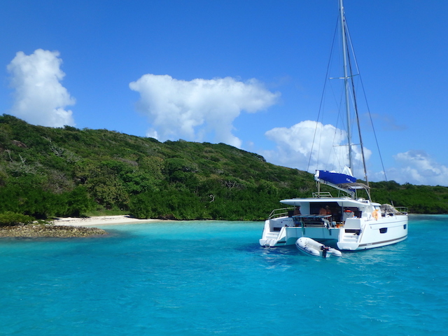 Sailing Tobago Cays