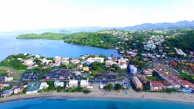 Drone view of Le Marin, Martinique