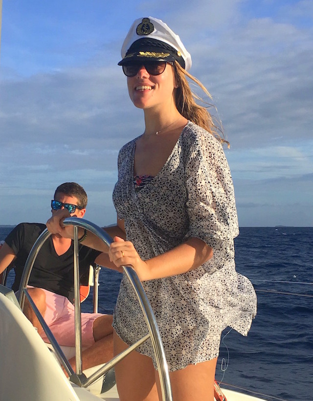 Sailing from the Grenadines to Saint Lucie