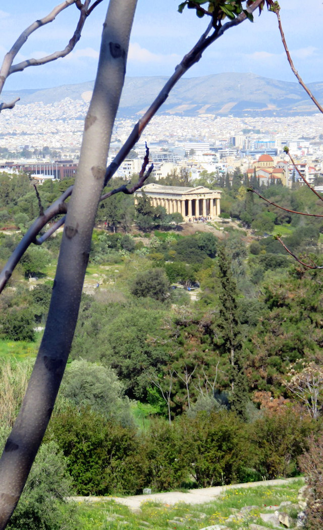 View over Athens while going up to the Acropolis