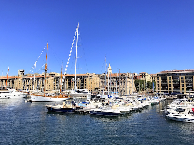 Taking a stroll through the Vieux Port in Marseille