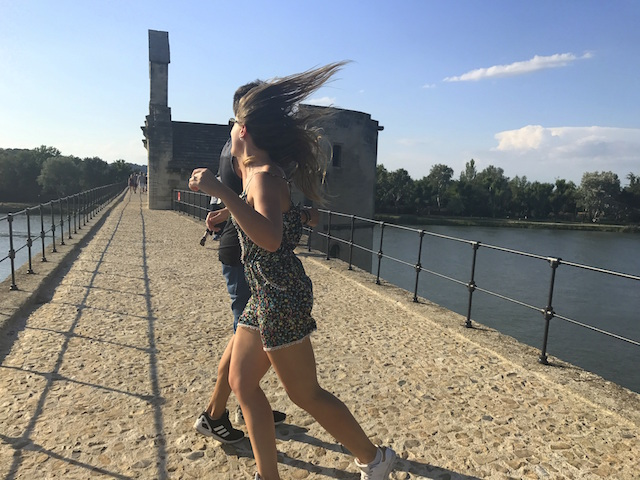 Dancing on Avignon bridge