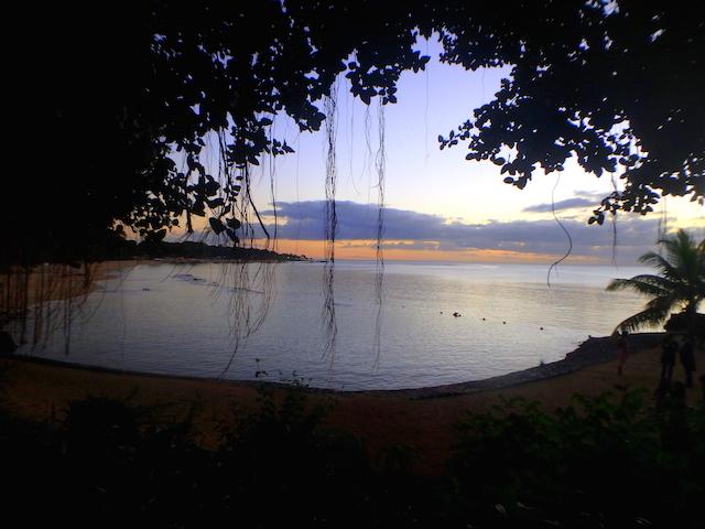 Sunset on the beach at the Maritim Resort in Mauritius