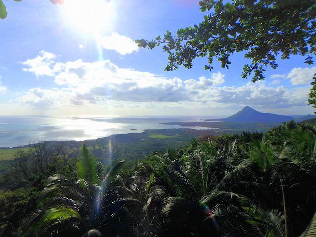 View from Le Chamarel Restaurant in Mauritius