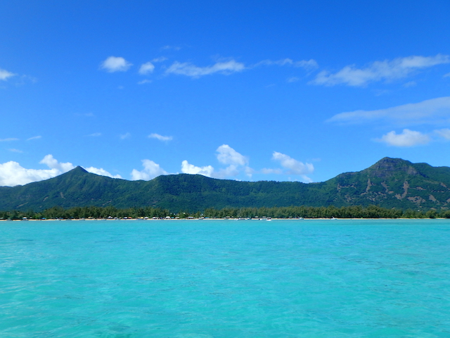 View of Bénitiers island in Mauritius