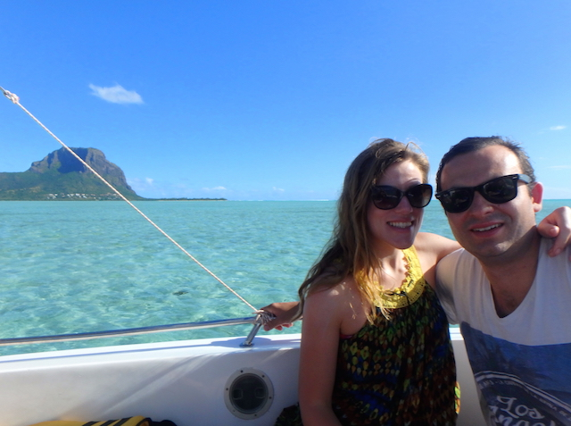 Boat trip to Bénitiers island in Mauritius