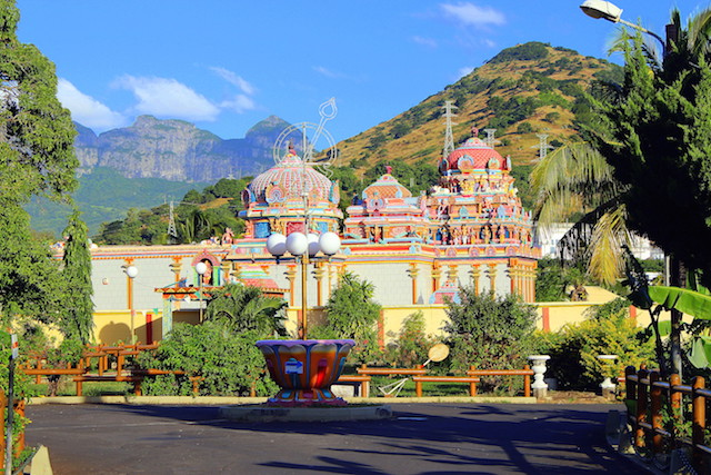 Colorful Indian temple in Mauritius