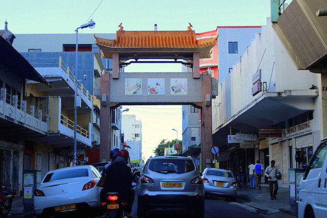 The Chinese neighborhood in Port Louis, Mauritius
