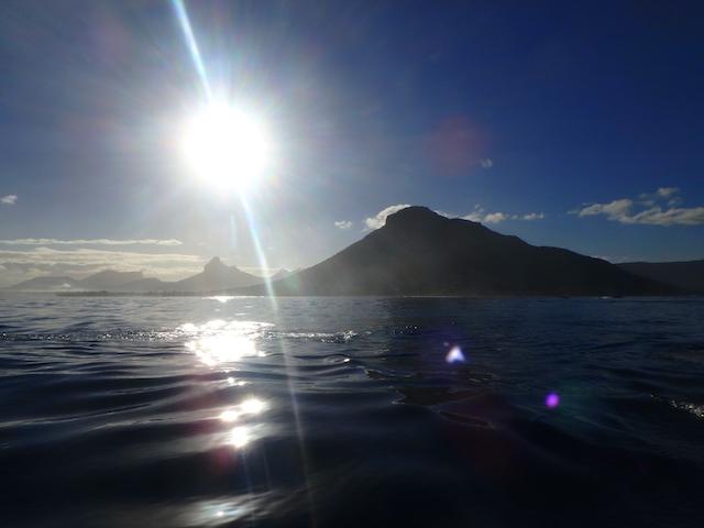Sunrise over the ocean in Mauritius