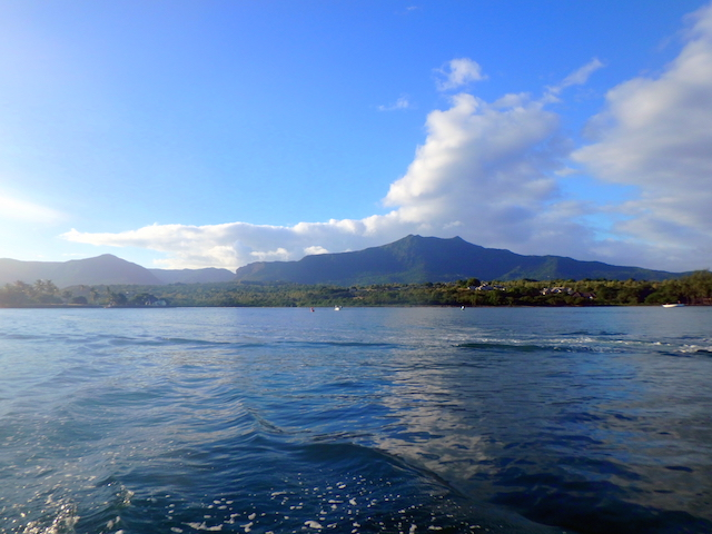 Boat trip to swim with wild dolphins in Mauritius