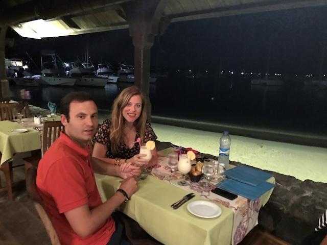 Dinner at Café de la Plage, Grand Baie, Mauritius