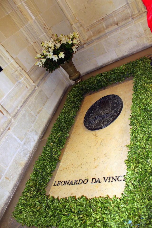 Leonardo da Vinci grave in Amboise castle