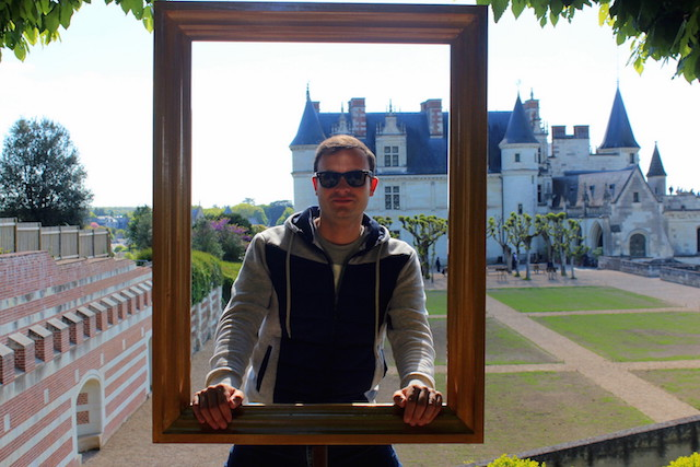 Visiting the castle of Amboise in the Loire Valley