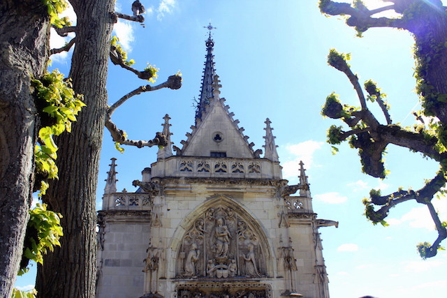 The church in the castle of Amboise