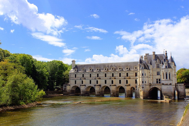 Visiting the castle of Chenonceau in the Loire Valley, France