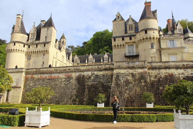 Visiting the castle of Ussé