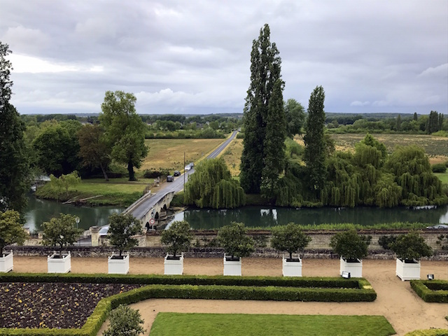 View over the Indre river from the castle of Ussé