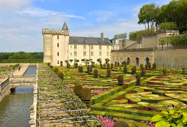 The gardens of Villandry castle