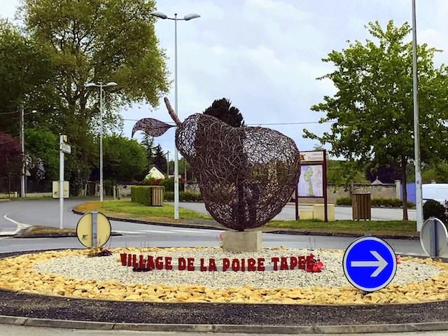 La Poire Tapée village in the Loire valley, France