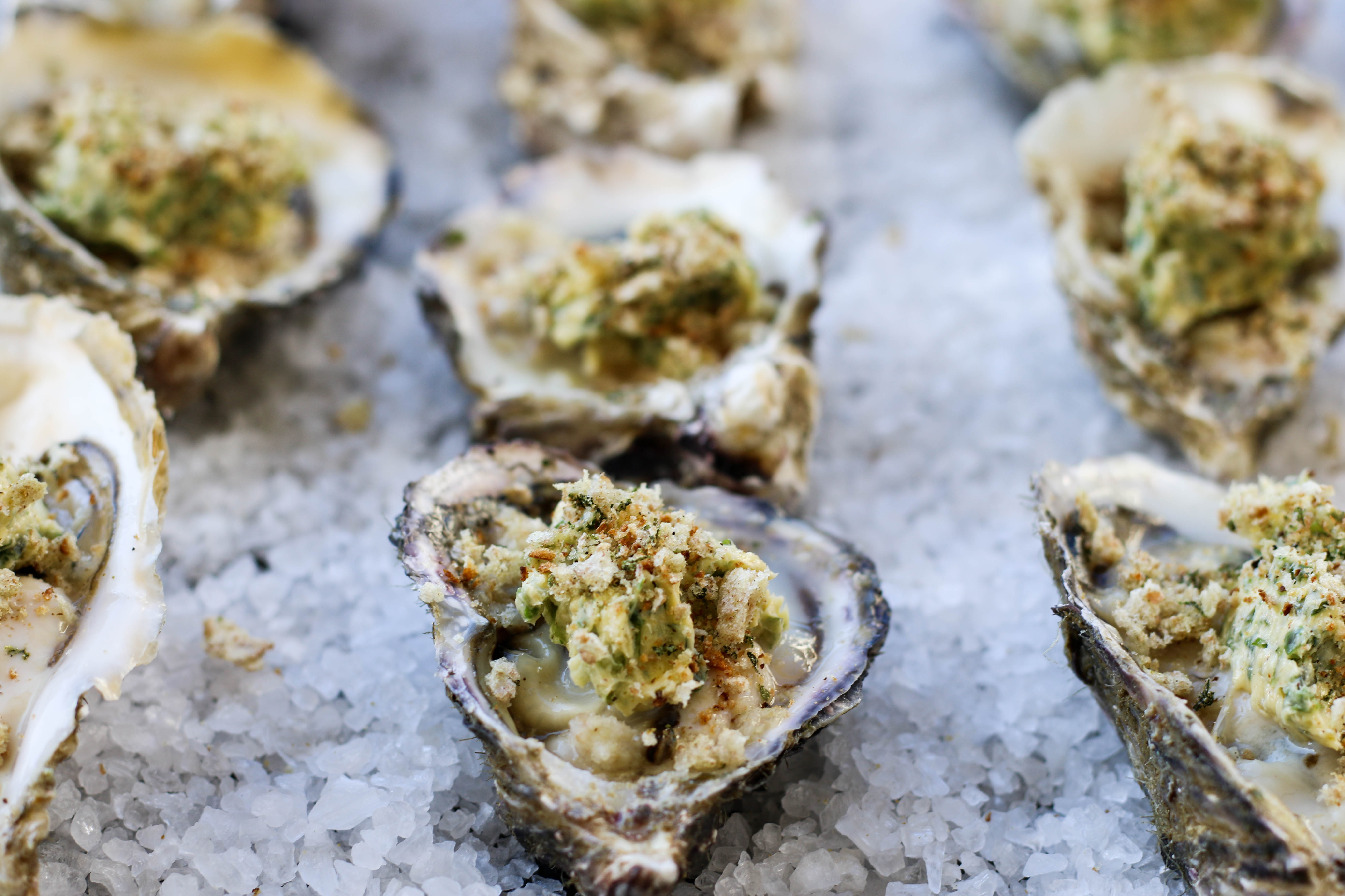 Grilled Oysters with Spicy Herb Butter | The Secret Life of Bee