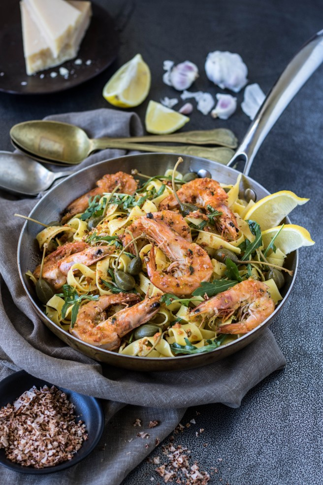 prawn tagliatelle with chilli & lemon | The Secret Life of Bee