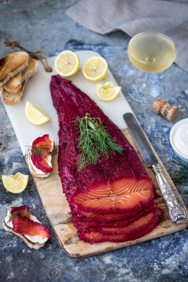 Beetroot & Bubbly Salmon Gravlax | The Secret Life of Bee