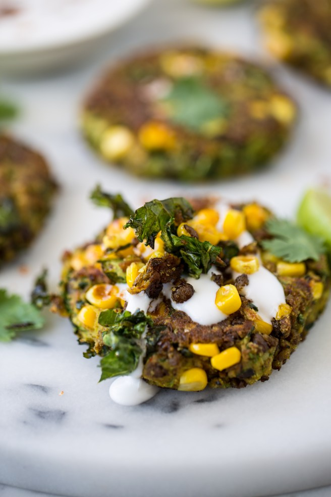 zucchini, kale & corn fritters | The Secret Life of Bee