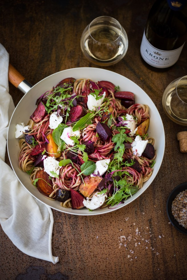 Balsamic Beets & Goats Cheese Linguine | The Secret Life of Bee